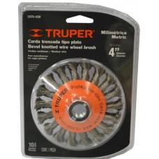 WIRE CONCAVE WHEEL BRUSH Truper M14Nut Twist Knot